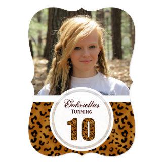 Leopard 10th Birthday: Picture:Party Invitation