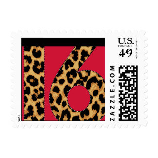 Leopard 16 postage stamps