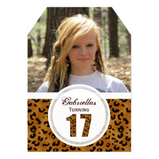 Leopard 17th Birthday: Picture:Party Invitation