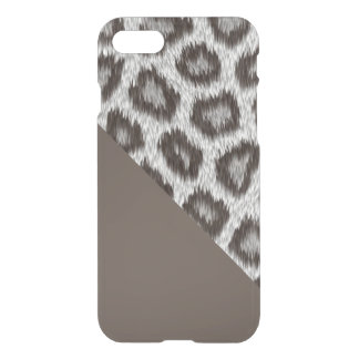 Leopard 2 - Cacao- iphone7 Clear case
