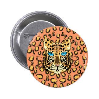 Leopard 2 Inch Round Button