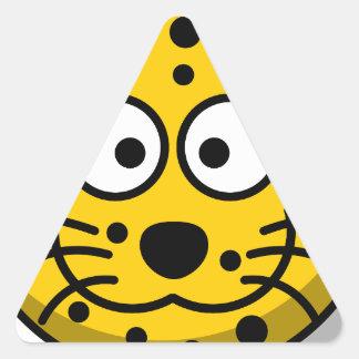 leopard-30877 triangle sticker