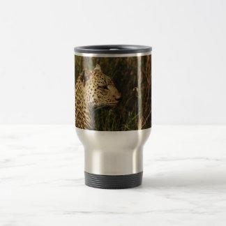 Leopard (alert & sitting up) safari commuter mugs