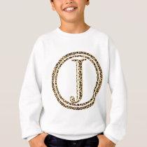 leopard alphabet J Sweatshirt