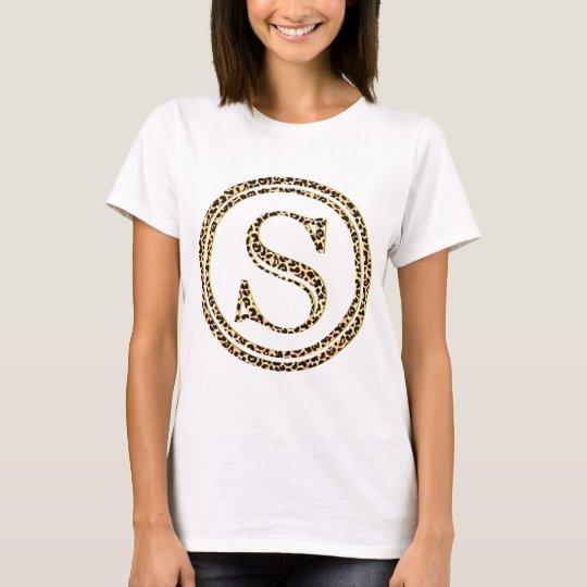 leopard alphabet S T-Shirt