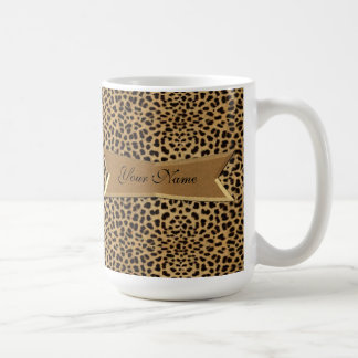 Leopard and Banner Coffee Mug