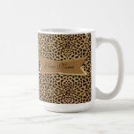 Leopard and Banner Mugs