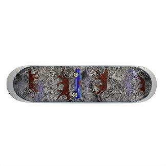 Leopard and Classic Car Skateboard