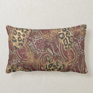 Leopard and Paisley Pattern Print Pillows