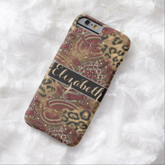 Leopard and Paisley Pattern Print to Personalize Barely There iPhone 6 Case