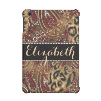 Leopard and Paisley Pattern Print to Personalize iPad Mini Cases