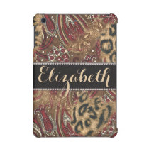Leopard and Paisley Pattern Print to Personalize iPad Mini Cover