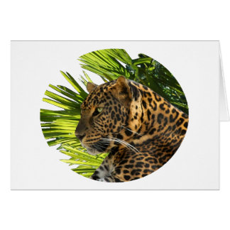 LEOPARD AND PALMS CARD