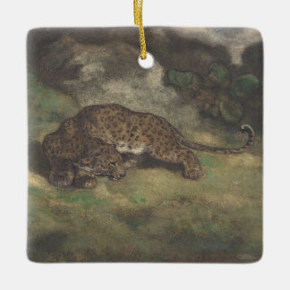 Leopard and Serpent Ceramic Ornament