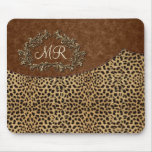 Leopard And Swirls Mouse Pad at Zazzle