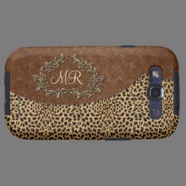Leopard and Swirls Samsung Galaxy SIII Covers