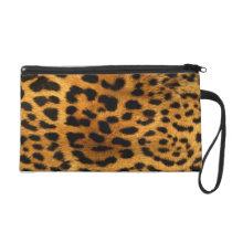 Leopard and zebra Animal Print Wristlet Clutch