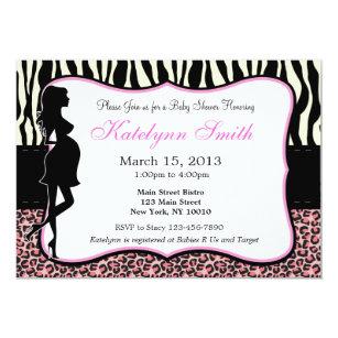 Leopard print baby shower invitations announcements zazzle leopard and zebra print baby shower invitation filmwisefo