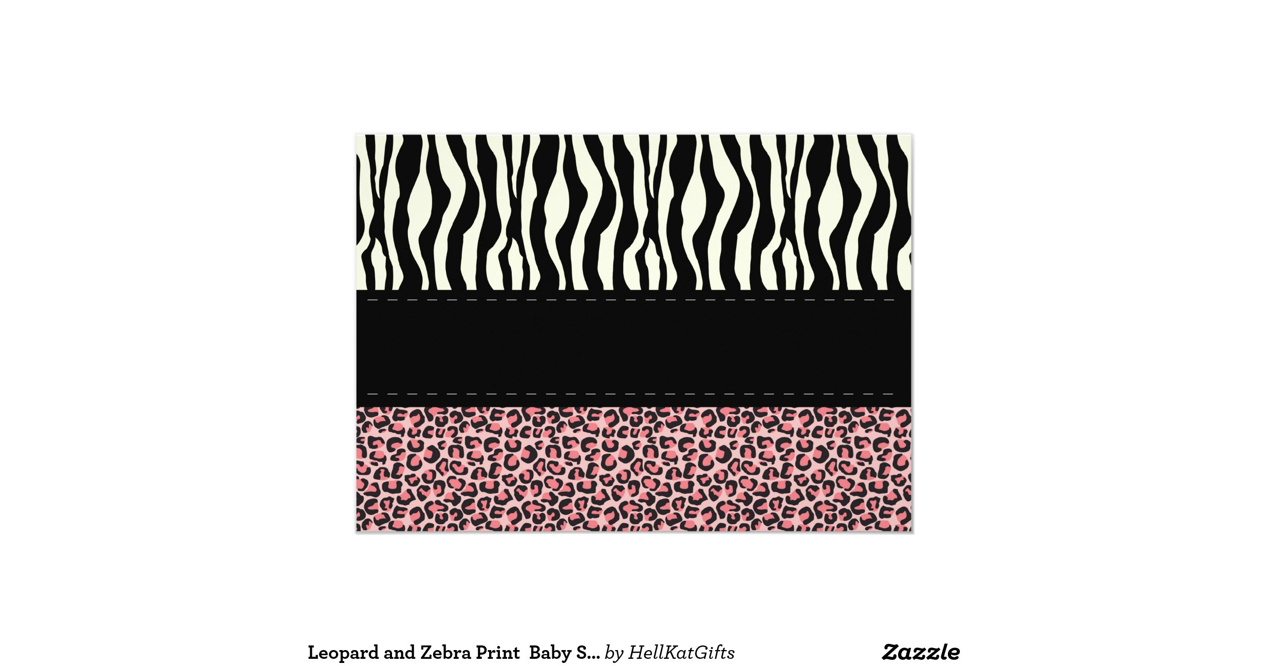 leopard and zebra print baby shower invitation