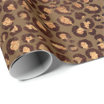 Leopard Animal Bronze Gold Black Honey African Lux Wrapping Paper