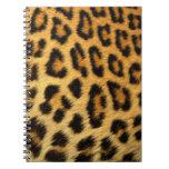 Leopard Animal Fur Print Texture Pattern Spiral Notebooks