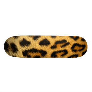 Leopard Animal Fur Print Texture Pattern Custom Skate Board
