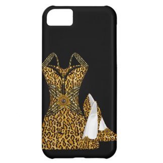 Leopard Animal High heel Shoes Dress Cover For iPhone 5C