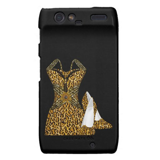 Leopard Animal High heel Shoes Dress Motorola Droid RAZR Cover