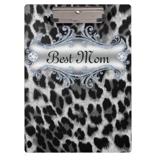 Leopard Animal Pattern Best Mom Mother's Day Clipboard