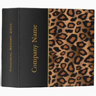Leopard Animal Pattern Design 3 Ring Binder