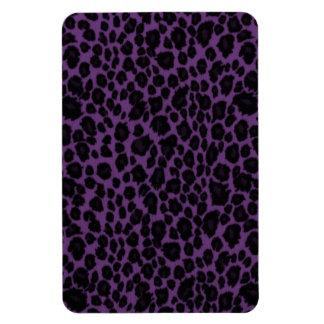 Leopard Animal Pattern in Purple Magnets