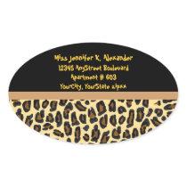Leopard Animal Print Address Labels
