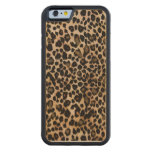 Leopard Animal Print Case Carved® Maple iPhone 6 Bumper