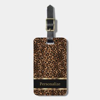 Leopard Animal Print | DIY Text Bag Tag