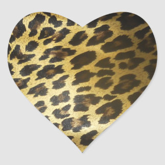 Leopard Animal print Heart Sticker