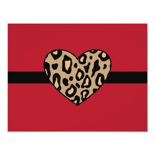 Leopard Animal Print Invitations