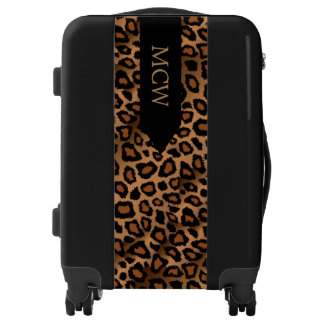 Leopard Animal Print | Monogram Luggage