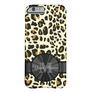 Leopard animal print monogrammed barely there iPhone 6 case