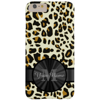 Leopard animal print monogrammed barely there iPhone 6 plus case