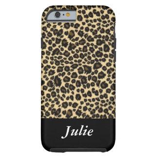 Leopard Animal Print Monogrammed Case Tough iPhone 6 Case