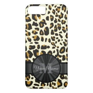 Leopard animal print monogrammed iPhone 8 plus/7 plus case
