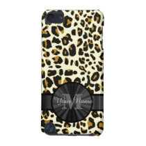 Leopard animal print monogrammed iPod touch (5th generation) cover