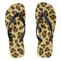 Leopard Animal Print Pattern Flip Flops