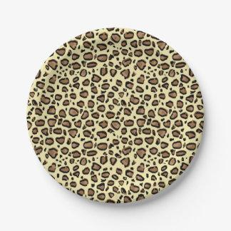 Leopard Animal Print Pattern Paper Plate