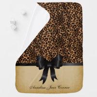 Leopard Animal Print Pattern Swaddle Blanket