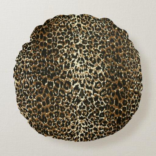 Round Animal Pillows : Leopard Animal Print Round Pillow Zazzle
