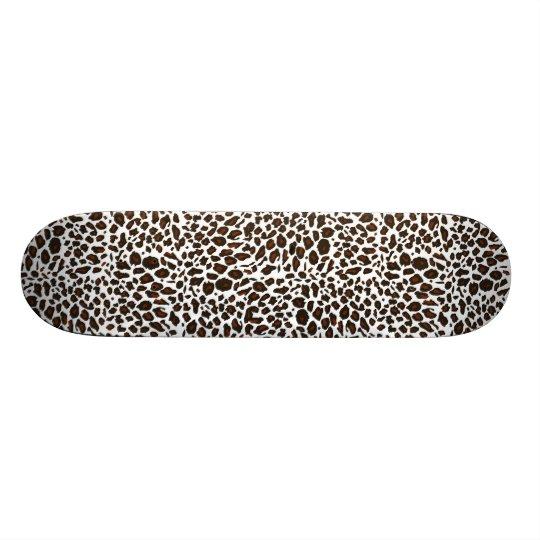 Leopard Animal Print Skateboard Deck