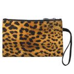 Leopard Animal Print Wristlet Clutch