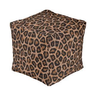 Leopard Animal Skin Print Pouf