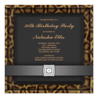 Leopard Any Number Birthday Party Invitations